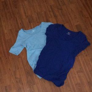 Maternity shirt bundle of 2.